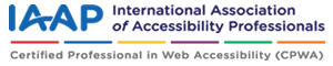IAAP認定ロゴ - Certified Professional in Web Accessibility(CPWA)