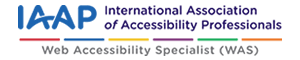 IAAP認定ロゴ - Web Accessibility Specialist(WAS)